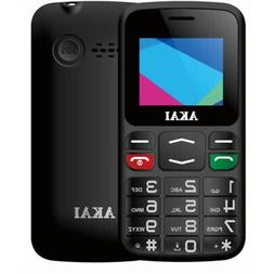 Akai AKMF019S cellulare 4,5 cm  Nero Telefono per anziani