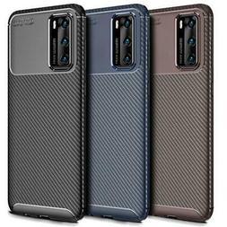Fibra di Carbonio Custodia Cellulare Per Huawei P40 P30 Pro