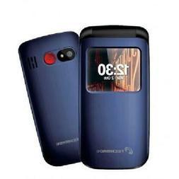 Techmade CELLULARE SENIOR FLIP PHONE  BLU DUAL SIM