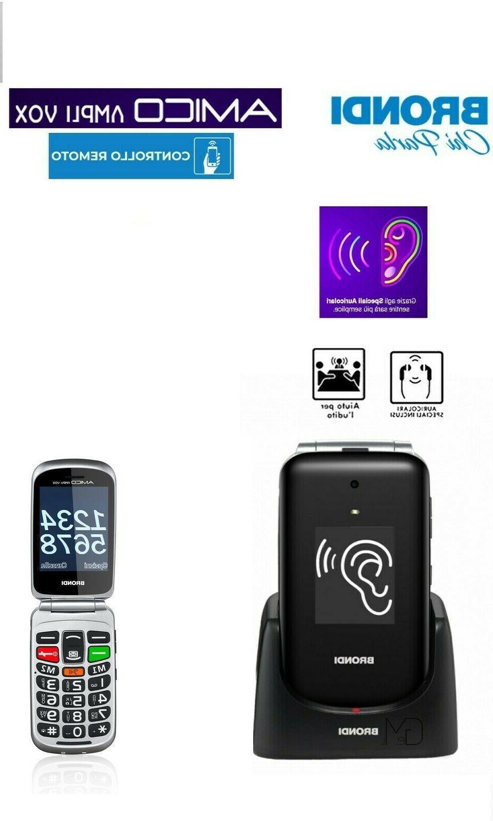 telefono cellulare per anziani conchiglia amplifica suoni