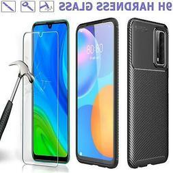 Per Huawei P Smart 2021 Custodia, Sottile Fibra di Carbonio