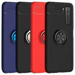 Per Huawei P40 Lite 5G Y5p Y6p Y6s 5T Caso Magnetico Anello