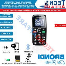 Telefono Cellulare Anziani Tasti Retroilluminati SOS Dual si