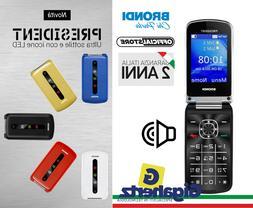 TELEFONO CELLULARE BRONDI PRESIDENT DUAL SIM FLIP GARANZIA I