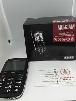 TELEFONO SAIET MAGNUM COLORE NERO, CELLULARE PER ANZIANI GSM